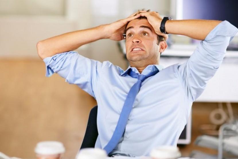 Pria Stress berat (Ilustrasi)
