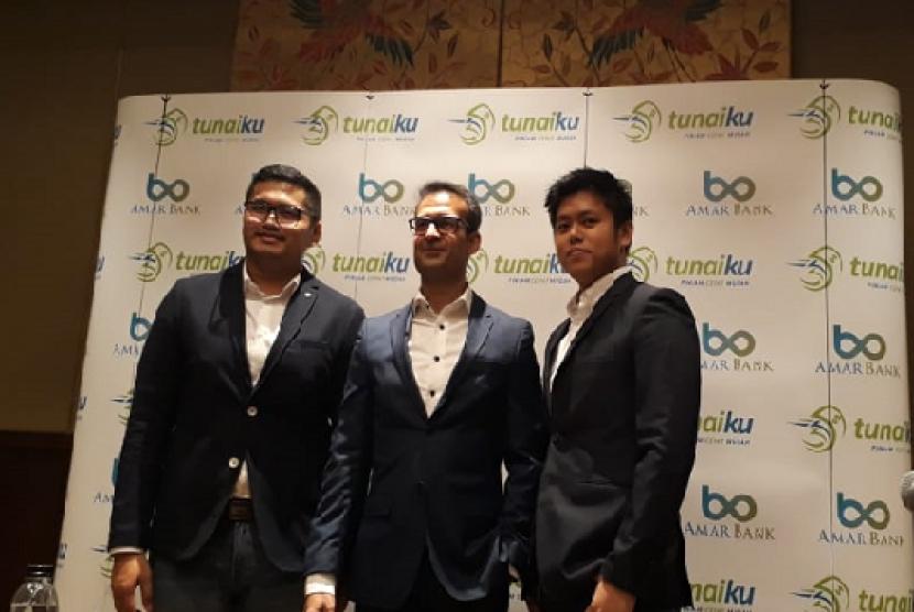 Produk tekfin Amar Bank, Tunaiku rayakan ulang tahun kelima di The Sultan Hotel, Jakarta, Kamis (11/7) malam.