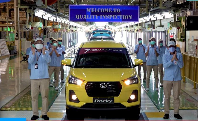 Produksi Daihatsu di Indonesia telah mencapai 7 juta unit.