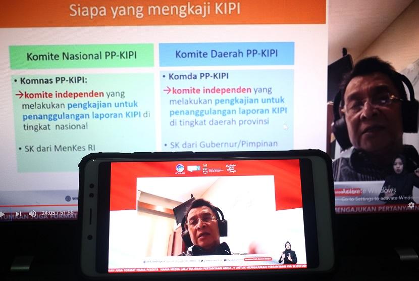 """Prof. Dr. dr. Hindra Irawan Satari, Ketua Komisi Nasional Kejadian Ikutan Pasca Imunisasi (Komnas KIPI) dalam dialog Produktif bertema 'Keamanan Vaksin dan Menjawab KIPI"""" (Kejadian Ikutan Pasca Imunisasi) yang diselenggarakan secara daring di Media Center Komite Penanganan COVID-19 dan Pemulihan Ekonomi Nasional (KPCPEN), Kamis (19/11)."""