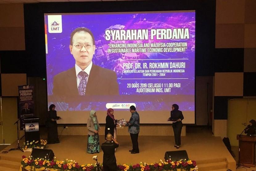 Prof Rokhmin Dahuri mengisi Syarahan Perdana di University Malaysia Terengganu (UMT).