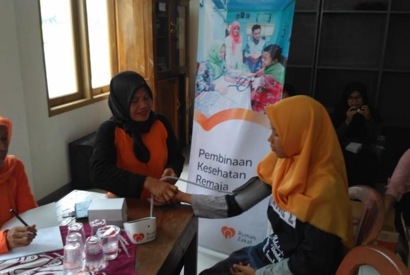Program kesehatan remaja di Desa Blater, Kecamatan Poncowarno, Kebumen, Jawa Tengah.