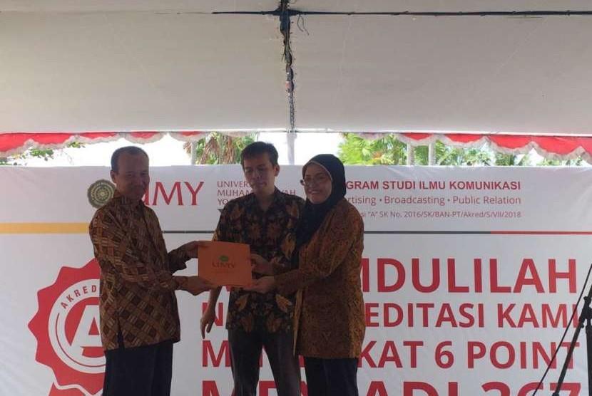 Program Studi (Prodi) Ilmu Komunikasi Universitas Muhammadiyah Yogyakarta (UMY) kembali berhasil mendapatkan akreditasi A dengan nilai 367.