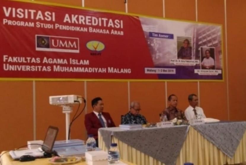Proses visitasi BAN-PT di Program Studi (Prodi) Pendidikan Bahasa Arab  (PBA) Universitas Muhammadiyah Malang (UMM).