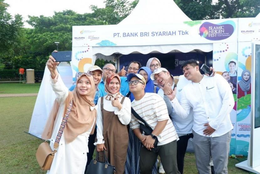 PT Bank BRIsyariah Tbk atau BRIsyariah hadir di acara Islamic Nexgen Fest Hijab Celebration 2019 yang digelar di kawasan Bintaro Jaya Xchange Park, Ahad (17/2).