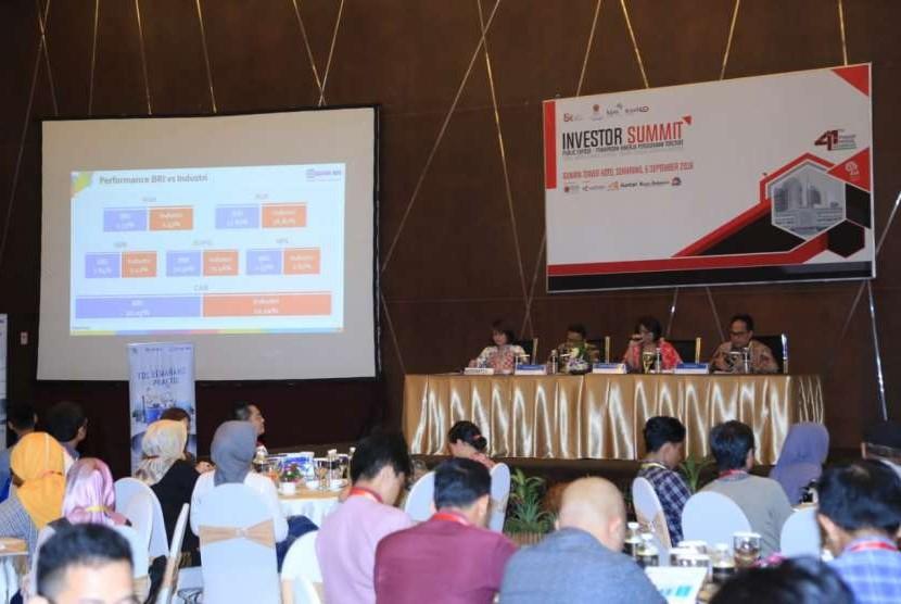 PT Bank Rakyat Indonesia (Persero) Tbk menggelar public expose di Ballroom Hotel Gumaya, Semarang, Kamis (6/9)