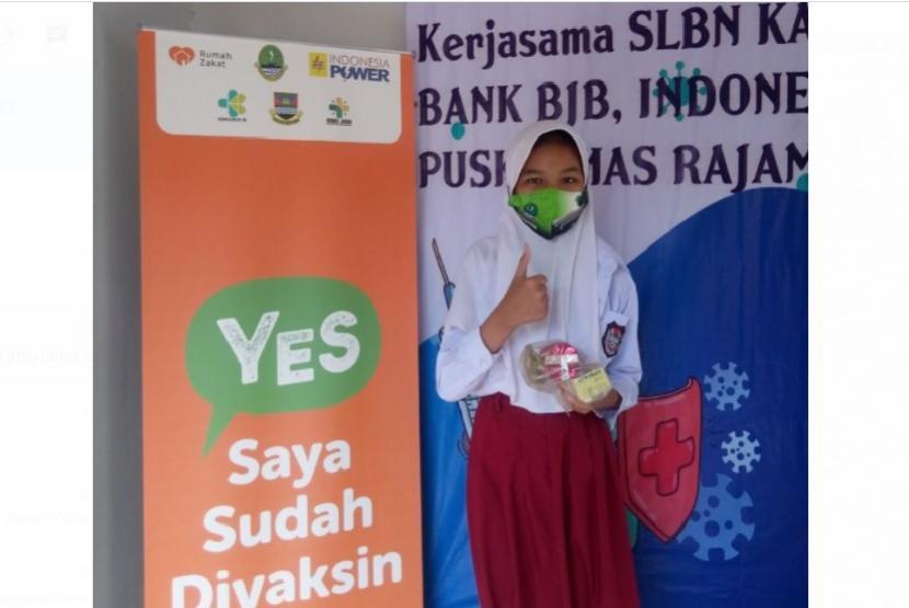 PT Indonesia Power menggandeng Rumah Zakat bersinergi dengan Puskesmas Rajamandala Bandung Barat, pada program percepatan Vaksinasi yang difokuskan untuk siswa disabilitas di SLBN Bandung Barat, masyarakat umum sekitar PT Indonesia Power serta karyawan dari PT Indonesia Power.