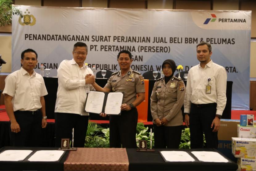 PT Pertamina Marketing Operation Region IV bersama Polda DIY  melakukan penandatanganan kontrak kerja sama dengan Kepolisian DIY.