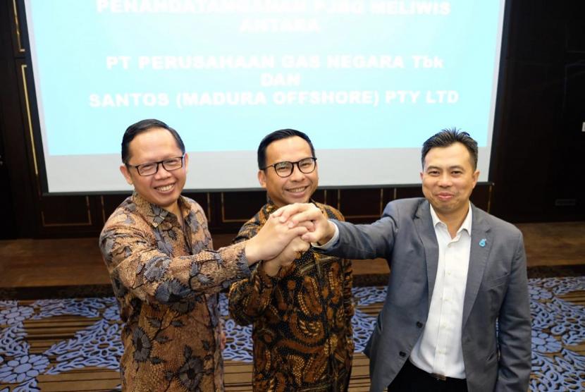 PT Perusahaan Gas Negara (PGN) Tbk menandatangani Perjanjian Jual Beli Gas (PJBG) dengan Santos Pty Ltd.