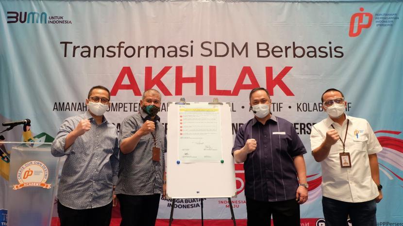 PT Perusahaan Perdagangan Indonesia (Persero) atau PPI implementasi transformasi SDM berbasis Akhlak di Jakarta, Senin (24/8).