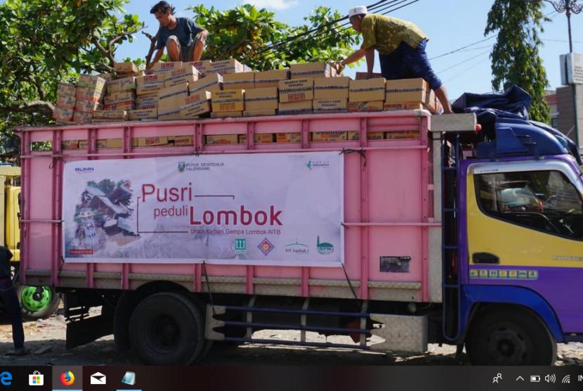 PT Pupuk Sriwidjaja (Pusri) salurkan barang kebutuhan pokok kepada korban bencana gempa bumi di Lombok, Nusa Tenggara Barat (NTB). Tim Peduli Lombok PT Pusri mengantarkan bantuan tersebut langsung kepada warga di tiga kecamatan di Kabupaten Lombok Timur.