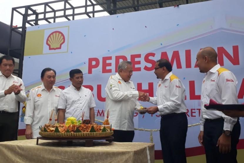 PT Shell Indonesia meresmikanStasiun Pengisian Bahan Bakar (SPBU) pertama di Kota Malang, Jumat (15/3).