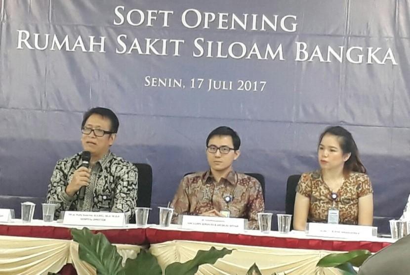 PT.Silaom International Hospitals Tbk. (Siloam) meresmikan pembukaan Rumah Sakit Siloam Bangka, Provonsi Bangka Belitung, Senin (17/7).