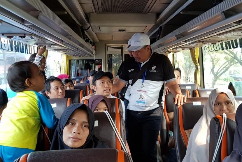 PT Surveyor Indonesia (Persero) tahun ini memberangkatkan 500 pemudik dalam program Mudik Bareng BUMN 2018