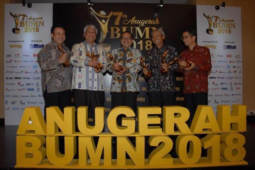Pupuk Indonesia Grup sukses meraih 6 penghargaan di 7th Anugerah BUMN 2018.