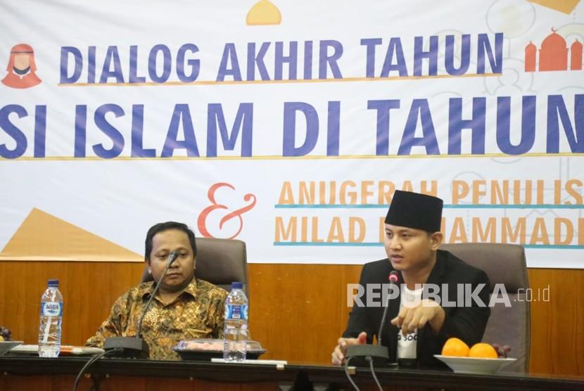 Pusat Studi Islam dan Filsafat Universitas Muhammadiyah Malang (PSIF UMM)  membahas moderasi Islam dalam menyambut tahun politik. Dialog Akhir Tahun  yang bertajuk Moderasi Islam di Tahun Politik Perspektif Kaum Muda  Milenial ini sukses diselenggarakan di UMM, Kamis (27/12).