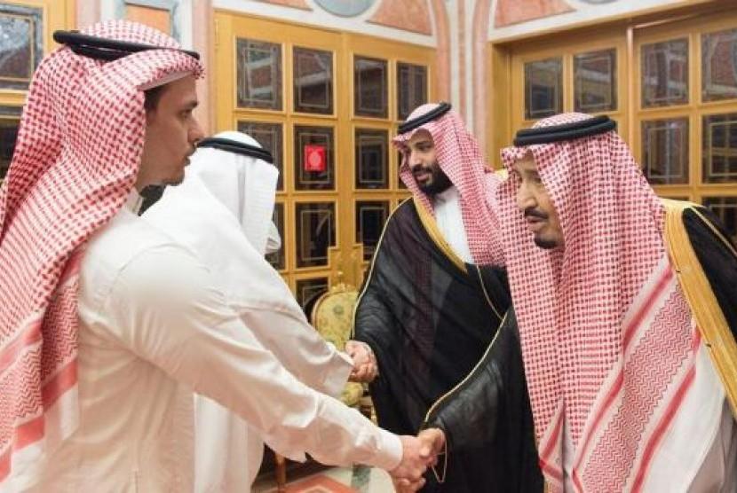 Raja dan Putra Mahkota Saudi bertemu dengan keluarga Khashoggi