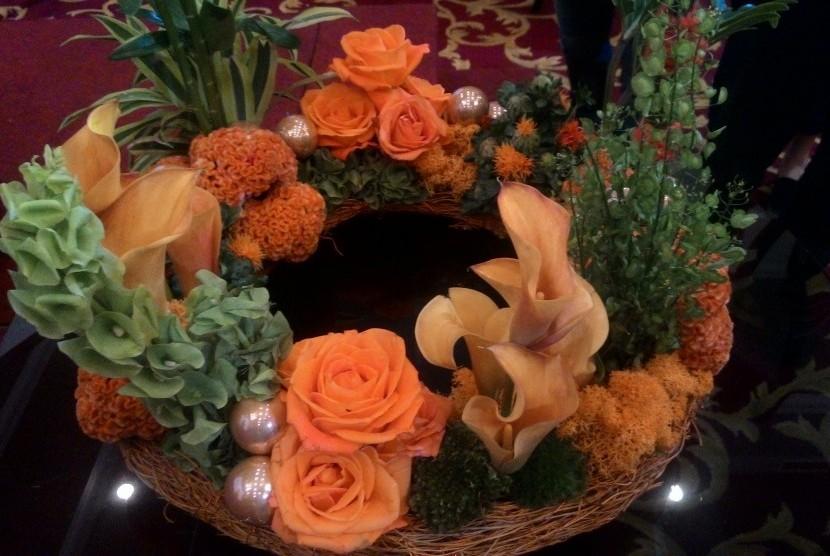 Rangkaian bunga.