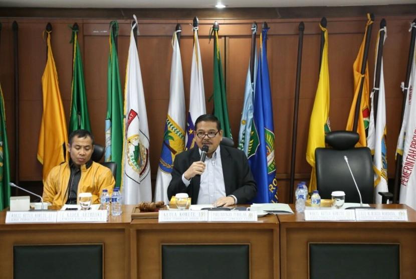 Rapat Dengar Pendapat (RDP) bersama Pemerintah Kota Makassar, Denpasar, serta Kementerian Koordinator Bidang Maritim dan Kementerian Lingkungan Hidup dan Kehutanan hari Rabu (20/9).