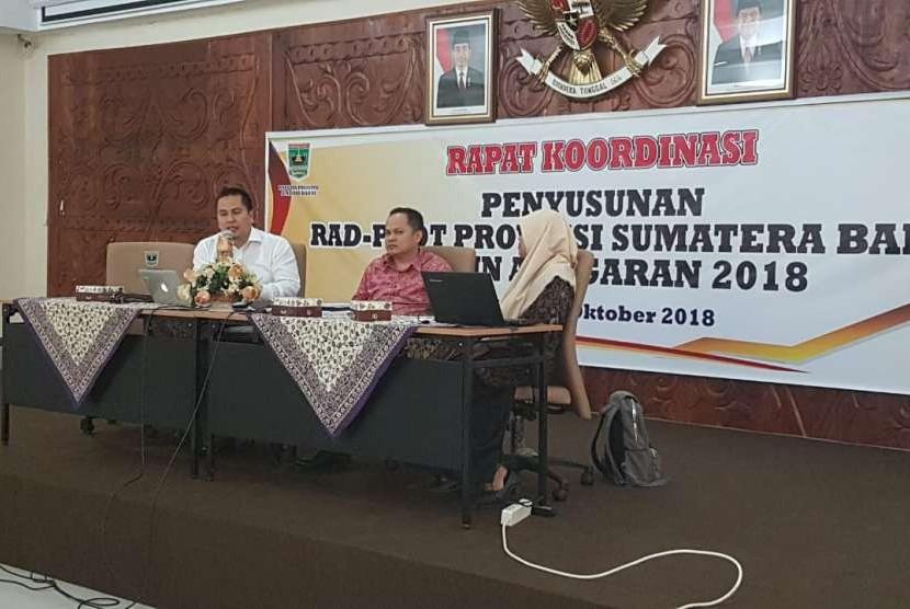Rapat Koordinasi Penyusunan Rencana Aksi Daerah (RAD)-PPDT Provinsi Sumatra Barat TA 2018, (9/10).