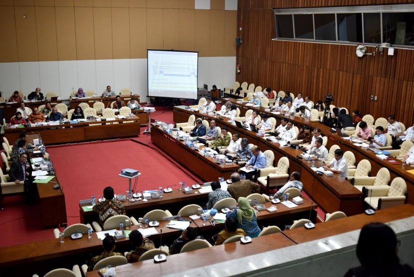 Rapat Pansus RUU Pemilu di Kompleks Parlemen, Senayan, Jakarta, bulan lalu.