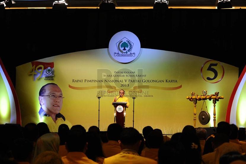 Rapat Pimpinan Nasional (Rapimas) V Partai Golkar di Jakarta, Jumat (22/11).