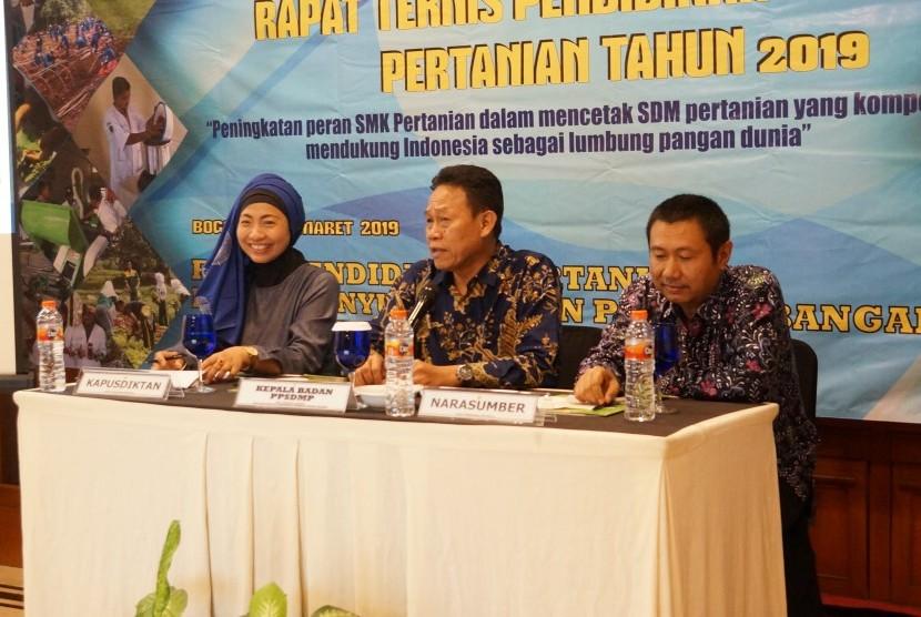 Rapat Teknis Menengah Pertanian 2019 di Bogor, Jawa Barat, Selasa (5/3).