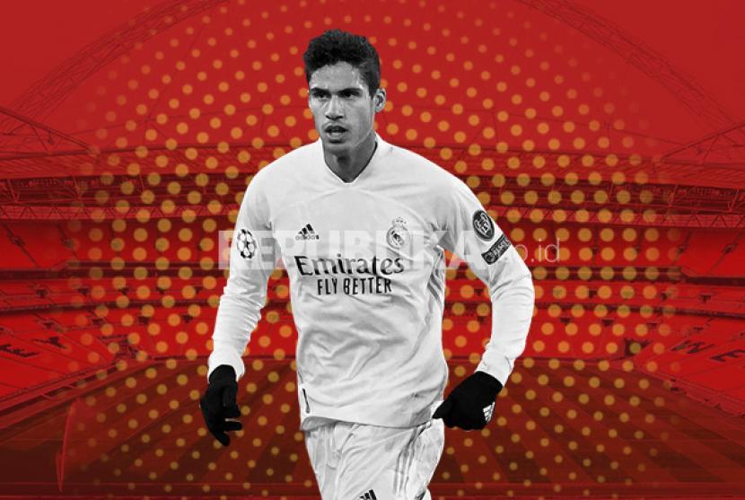 Bek Real Madrid Raphael Varane yang akan membela Manchester United musim depan.