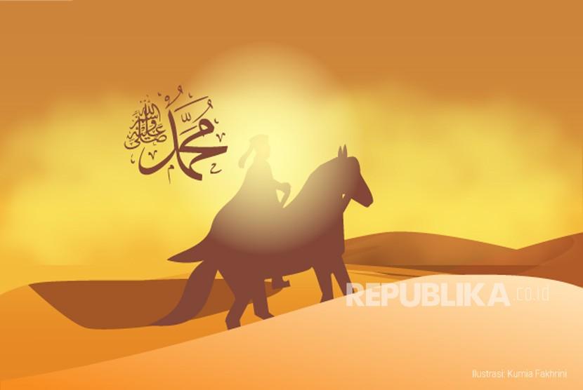Rasulullah SAW mendapat izin berperang saat berada di Madinah. Rasulullah SAW (ilustrasi)