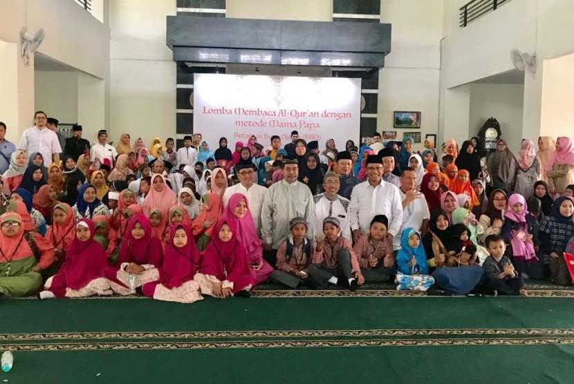 Ratusan siswa-siswi usia 4 hingga 12 tahun mengikuti lomba membaca Al-Quran, merupakan program Berantas Buta Quran (BBQ) yang diselenggarakan oleh Sinar Mas Land. Tangerang (14/10).