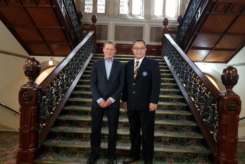 Rektor IPB Arif Satria dan Presiden Universitas og Adelaide