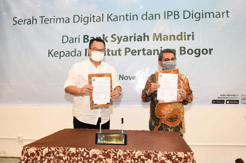 IPB-BSM Serah Terima Kantin Digital dan IPB Digimart