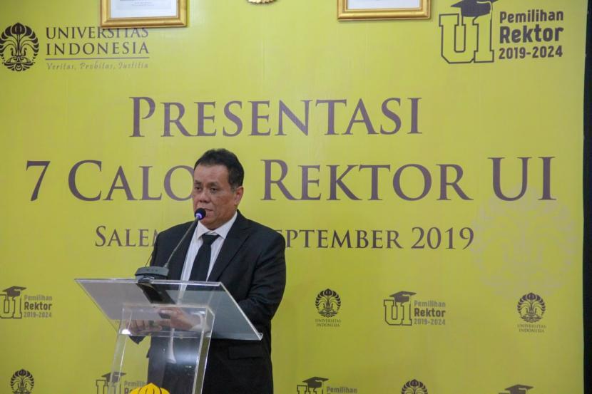 Rektor Universitas Indonesia (UI), Prof Ari Kuncoro. Langkah mundurnya Rektor UI, menurut Anggota Komisi X DPR Himmatul Aliyah jadi momentum membatalka PP Nomor 75 tahun 2021