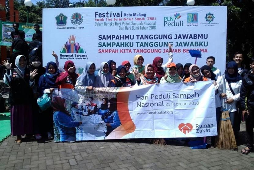 Relawan Nusantara Malang Ikuti Festival Bersih Sampah