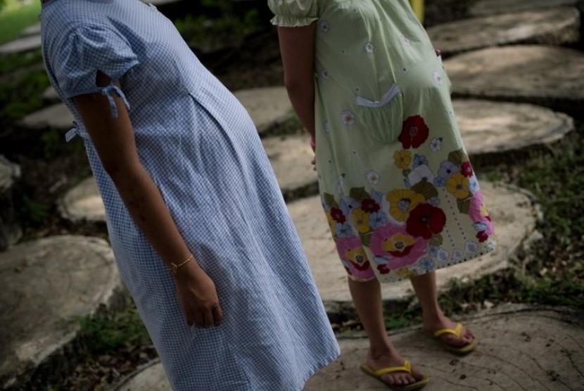 Remaja hamil (ilustrasi)