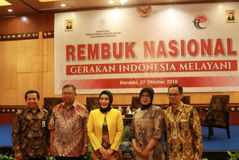 Rembuk Nasional Gerakan Indonesia Melayani yang merupakan rangkaian acara Pekan Kerja Nyata (PKN) Revolusi Mental.
