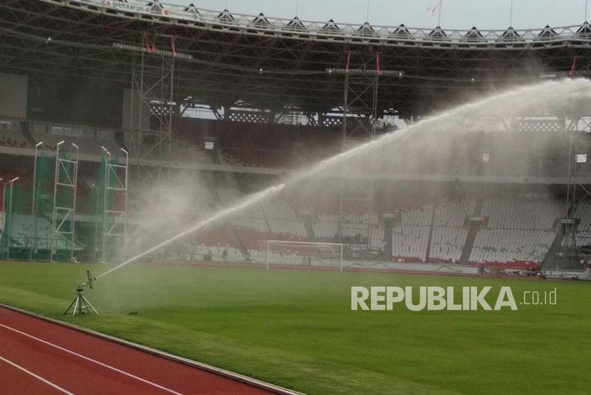 RenovasiStadion Utama Gelora Bung Karno Senayan Jakarta, Selasa (31/10).