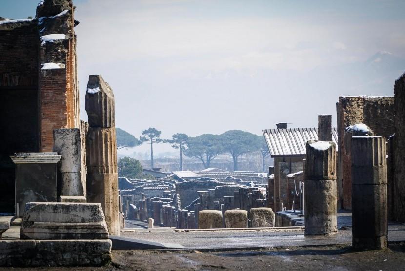 Reruntuhan Pompeii di Yunani.