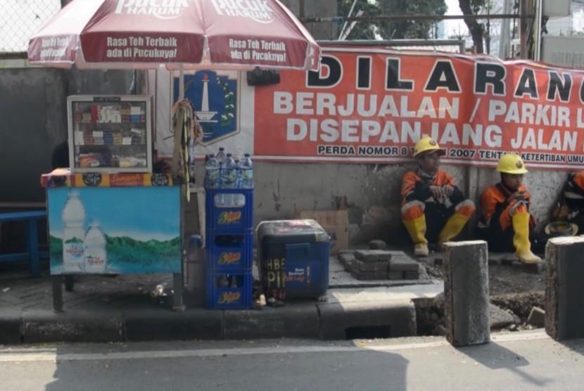 Revitalisasi trotoar di Jakarta Pusat