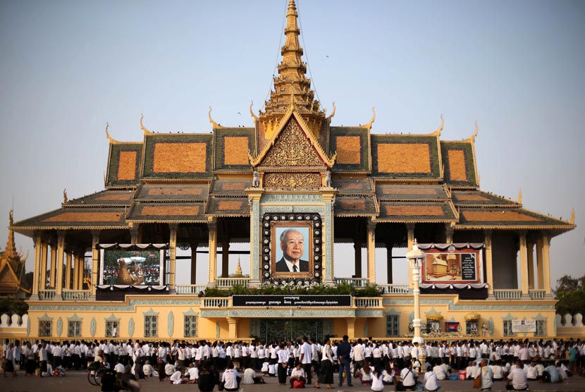 Istana Kerajaan Kamboja.   (AP/Wong Maye-E)