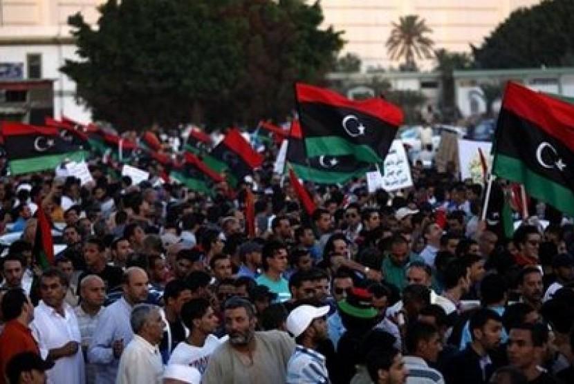Ribuan warga Libya di Benghazi memprotes keberadaan milisi di kawasan tersebut