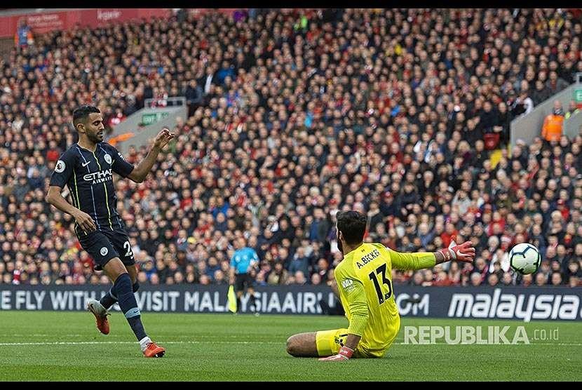 Suasana di Stadion Anfield saat Liverpool bertanding. (ilustrasi)