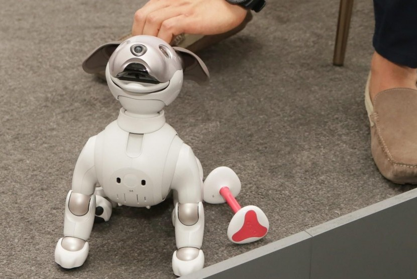 Robot Aibo. Ilustrasi