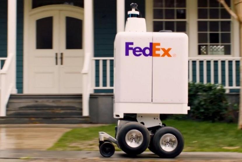 Robot kurir otonom dari Fedex.