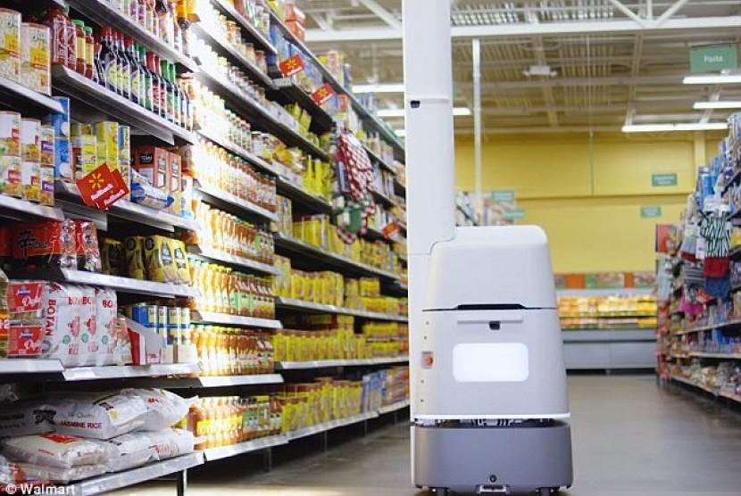 Robot setinggi enam kaki ini dapat mempermudah pekerjaan petugas swalayan.