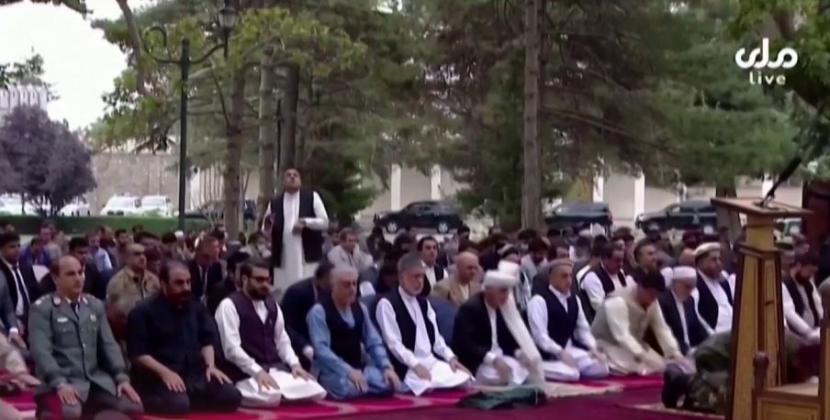 Roket mendarat di dekat Istana Kepresidenan di Afghanistan saat shalat Idul Adha.