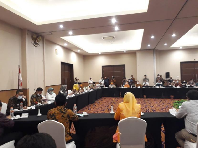 Rombongan Anggota Komisi IX DPR RI melakukan kunjungan kerja spesifik di Kota Sukabumi, Kamis (18/3)