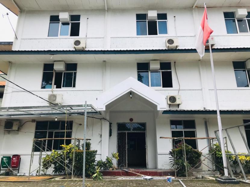Rumah Sakit Lapangan Kota Bogor yang diperuntukkan bagi pasien Covid-19.
