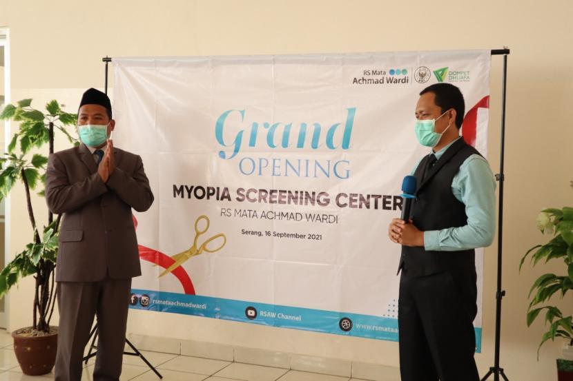 RS Mata Achmad Wardi BWI-DD meresmikan layanan Myopia Screening Center, Kamis (16/9).