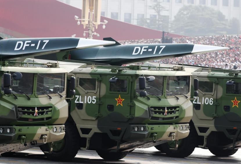 Rudal China DF-17. (ilustrasi).